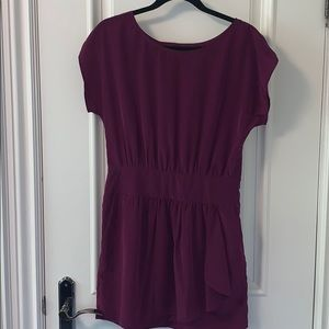 BCBG Generation purple dress with cutout in back